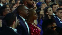 Beyonce Reacts as Adele Accepts Album of The Year | Audience Cam | 59th GRAMMYs 2017