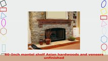 Pearl Mantels 41660 Devonshire Unfinished Fireplace Mantel Shelf Length 60Inch d2584c87