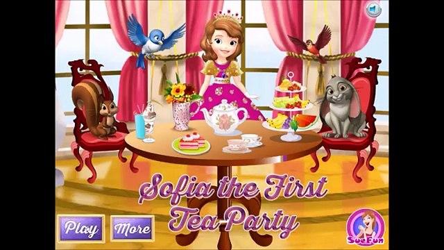 Sofia Shopping - Sofia The First Games - Sofia Castle Makeover - Tea Party
