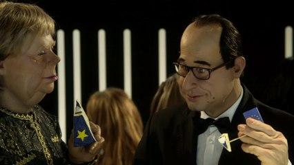 Anuncio Schweppes: François Hollande / Angela Merkel - Los Guiñoles - CANAL+