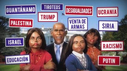 Salida de la casa blanca: Barack Obama y sus hijas - Los Guiñoles - CANAL+