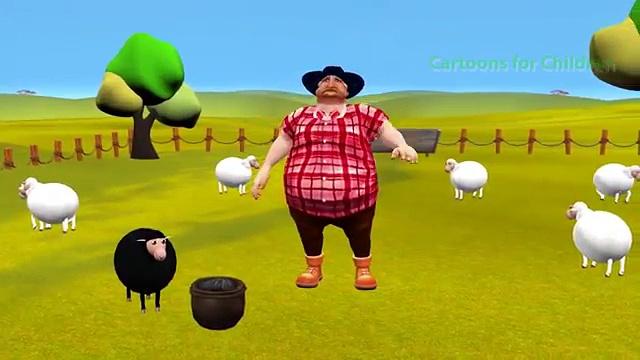 Baa Baa Black Sheep Kids Rhymes   Elephant and Black Sheep Cartoon Animation 3D Rhymes for Children