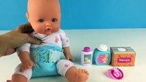 La Muñeca del bebé el Baño y el Almuerzo Nenuco Niña de Cambio de Pañales de Cómo el Baño de un Bebé de Juguete de Videos