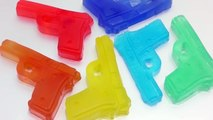 DIY Colors Guns Jelly Gummy Pudding Learn Colors Slime Surprise Toys