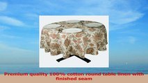 Premium Quality 100 Cotton Round Table Cloth  Table Linen 70 Diam PTF aa873eaf