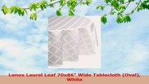 Lenox Laurel Leaf 70x86 Wide Tablecloth Oval White 1a989682