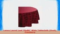 Lenox Laurel Leaf 70x86 Wide Tablecloth Oval Cranberry 208f6f6e