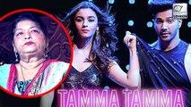 Saroj Khan UPSET With Varun Dhawan & Alia Bhatt? | Tamma Tamma Again