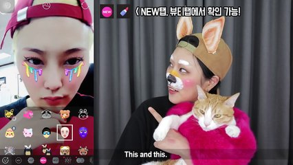Draw the SNOW filter on my face 스노우 필터를 직접 얼굴에 메이크업 해보기 - SSIN