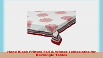 Handmade Printed Red Floral Tablecloth Rectangular For Dinner Parties Indoor  Outdoor 1e41c06b