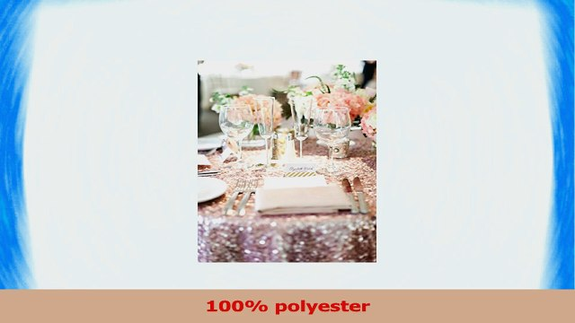 TRLYC 120 Round Rose Gold Sequin Table Cloth for Wedding Party and Events 1ae5c52c