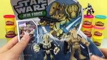 Star Wars Jango Fett Play Doh Surprise Egg - Darth Maul, Luke Skywalker, Obi-Wan Kenobi Battle Droid