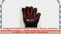 MaigonGrill BBQ Grilling Cooking Gloves Premium Oven Mitts Kevlar  DuPont Nomex Heat 23a1683e