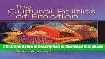 EPUB Download The Cultural Politics of Emotion Download Online