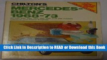 Books Chilton s Repair and Tune-Up Guide: Mercedes-Benz 1968-73 (Chilton s Repair   Tune-Up