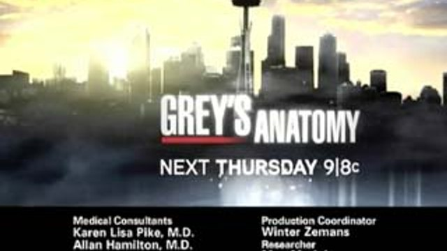 Grey's Anatomy - Promo - 6x21