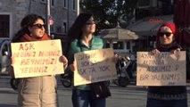 Bodrum - Sevgililer Günü'nde Kadın Cinayetlerine Dikkat Çekildi