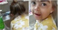 Menina pediu ao tio para lhe fazer uma maquilhagem de princesa e o resultado foi... só visto!