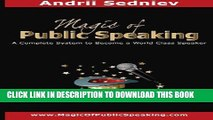 PDF] Magic of Public Speaking: A Complete System to Become a World