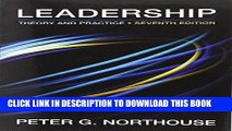 Download And Read Online Leadership: Theory and Practice, 7th Edition Full Download