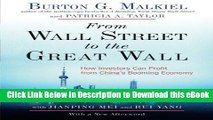 EPUB Download From Wall Street to the Great Wall: How Investors Can Profit from China s Booming