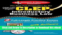 [Read Book] CLEP® Introductory Business Law with CD (CLEP Test Preparation) Kindle