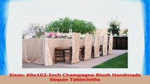 ShinyBeauty 60inx102in Sequin Tablecloth For WeddingParty Champagne Blush 91413ab7