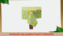 Citrons Vert Striped Rectangular French Tablecloth Uncoated Cotton 61 x 118 810 people 5044eb34