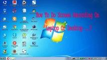 Screen Recording on laptop or desktop in Telugu