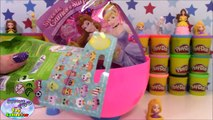 RAPUNZEL Disney Princess GIANT Play Doh Surprise Egg TANGLED Palace Pets Shopkin