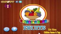 Páginas Para Colorear Para Los Niños Con Frutas Aprender Los Colores Para Niños