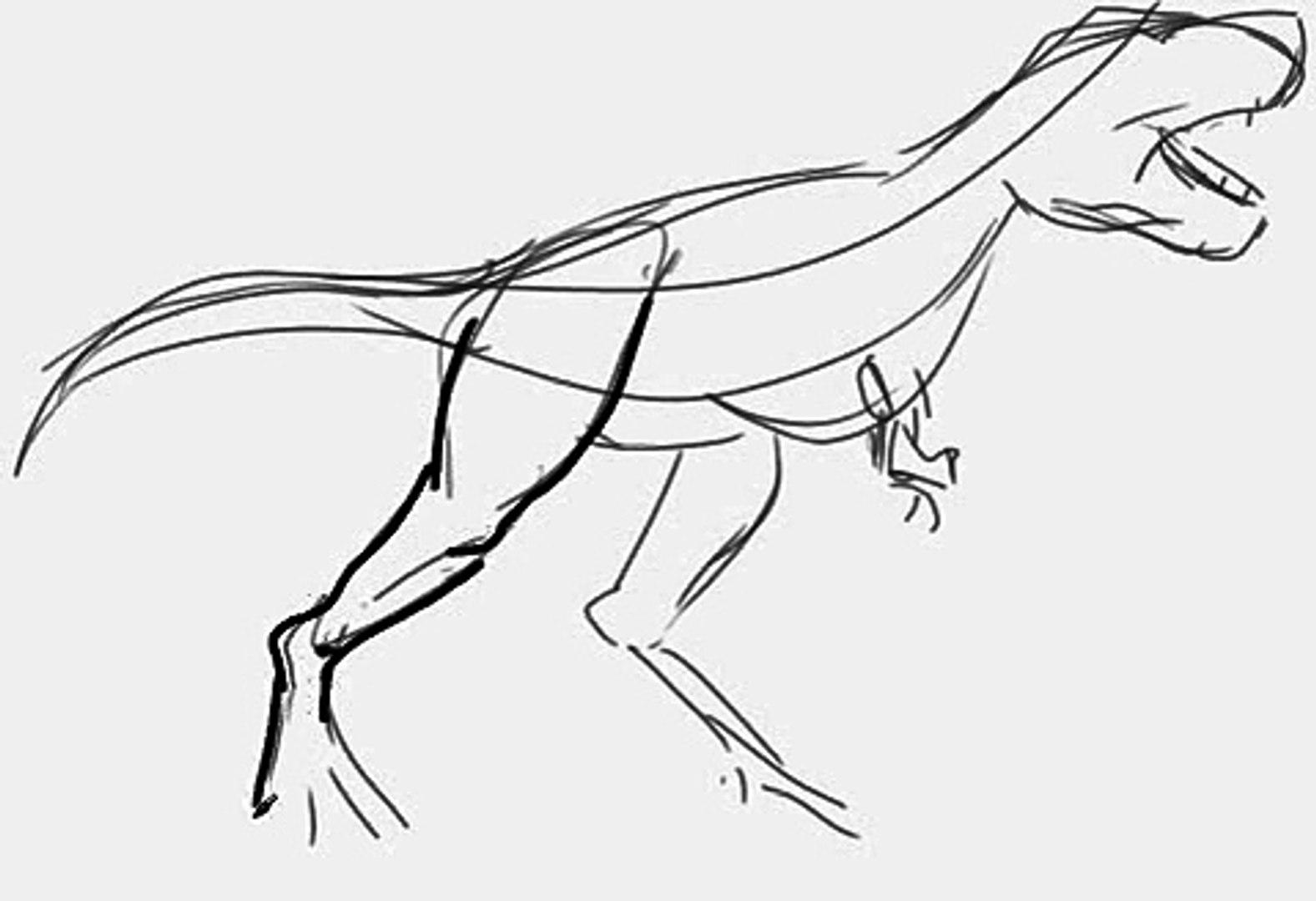 How to draw a t-rex / t-rex nasıl çizilir