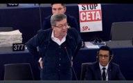 Jean-Luc Mélenchon au parlement Européen à propos du CETA