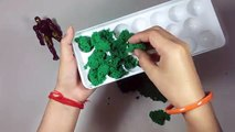 KINETIC SAND!!!!How to make Kinetic Sand jelly with Iron Man Toy.