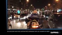 PSG-Barça : Un policier gaze des supporters sur les Champs-Élysées