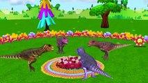 Colors Dinosaurs Finger Family Gorilla Nursery Rhymes | King Kong vs Elephant Finger Family Songs