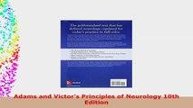 Adams and Victors Principles of Neurology 10th Edition