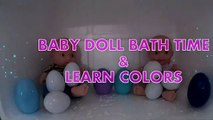 Jenny Cute Baby Doll Fun Bathtime With Foam Baby Doll Bath Time & Learn Colors BABY DOLL