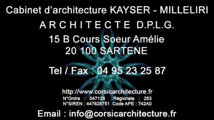 Projet d'Architecture Contemporaine en Corse par le Cabinet d'Architecture kayser Milleliri, Architecte DPLG