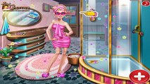 Super Barbie Sauna Flirting Barbie Kissing Ken Baby Games for Kids