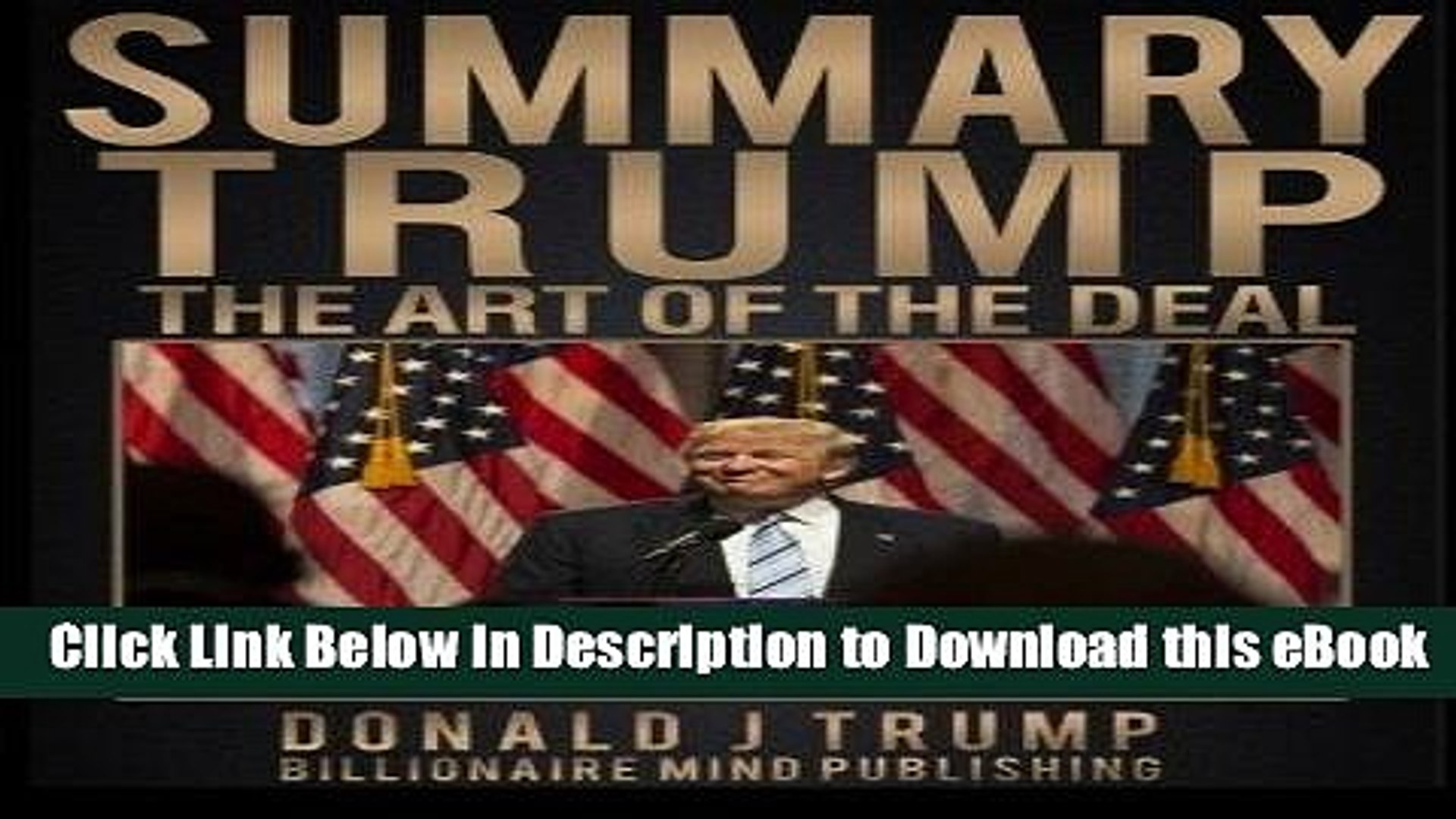 EPUB Download Summary: Trump: The Art of the Deal by Donald J. Trump and Tony Schwartz Mobi