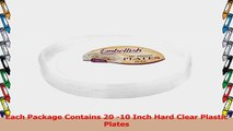 Embellish Hard plastic 10 Inch Clear Plates 20 Count Pack Of 4 7cbde014