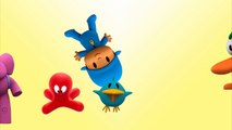 5 Little Talking Pocoyo Jumping On the Bed Five Little Monkeys Nursery Rhymes for Toddlers