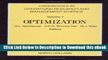 [Read Book] Optimization, Volume 1 (Handbooks in Operations Research and Management Science) Mobi