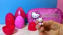 7 Hello Kitty Surprise Eggs Unboxing Kinder Surprise Eggs Very Cute Hello Kitty