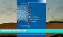 BEST PDF  Applying Economics to Institutional Research: New Directions for Institutional Research,