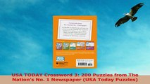 READ ONLINE  USA TODAY Crossword 3 200 Puzzles from The Nations No 1 Newspaper USA Today Puzzles