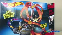 Hot Wheels Spin Storm Track Set Toy Cars For Kids Racing Tracks Family Fun Ryan ToysReview