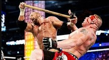 WWE Triple H Bashed Brock Lesnar Head With Sledge Hammer FULL Bloodiest Match NO HOLDS BARRED