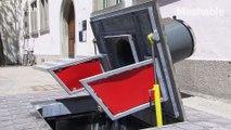 スイスの都市では街の景観を損ねることなく大量のごみを集められる「ハイテクごみ箱システム」が採用されており、実際に使われている